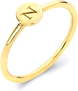 Best 14k gold initial ring Reviews