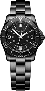 Victorinox - Mujer Maverick Small Black Edition - Reloj de Buceo analógico de Cuarzo de fabricación Suiza 241799