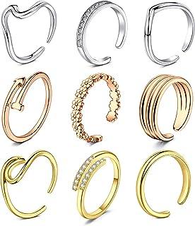 خواتم اصابع قدم قابلة للتعديل للنساء من انيسينا - انواع مختلفة - مجموعة مجوهرات القدم اللطيفة للصيف والشاطئ