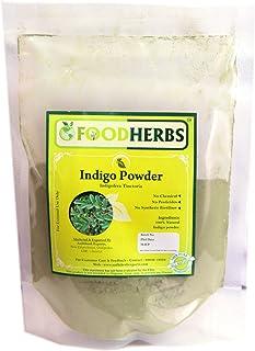 Foodherbs Indigo Powder (1 kg) (10 x 100 gm Packs) Pure and Natural for Hair and Beard Color