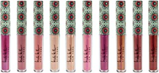 Nicole Miller 10 Pc Lip Gloss Collection, Shimmery Lip Glosses for Women and Girls, Long Lasting Color Lip Gloss Set with Rich Varied Colors (Green)