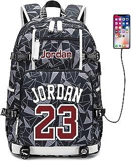 Jugador de Baloncesto Estrella Michael Jordan Mochila multifunción Estudiante de Viaje Mochila para fanáticos para Hombres Mujeres