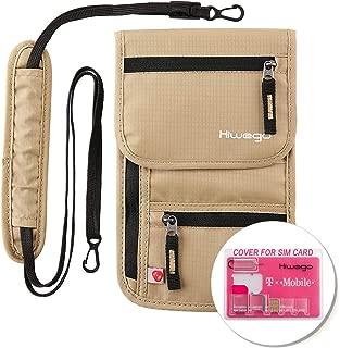 Travel Neck Pouch Hidden Passport Holder Wallet RFID Blocking/Neck Stash For Men Women