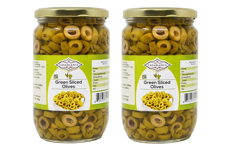 Casablanca Green Sliced Olives Limited Special Price 25.397 Jars Max 56% OFF 2 OZ 300g