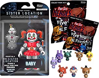 Pint Pack Baby FNoF Sister Location Nightmare Five Nights at Freddy's Character Action Clown + Five Nights at Freddy's 2 Pint Size Heroes Figure Blind Bag 3 pc Bundle