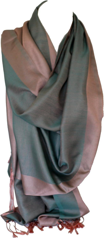 Double soie r/éversible bicolore Wrap Echarpe /étole ch/âle Hijab t/ête foulards