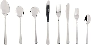 Russell Hobbs RH00360 Madrid 44 Piece Cutlery Set, Stainless Steel, 15 Year Guarantee