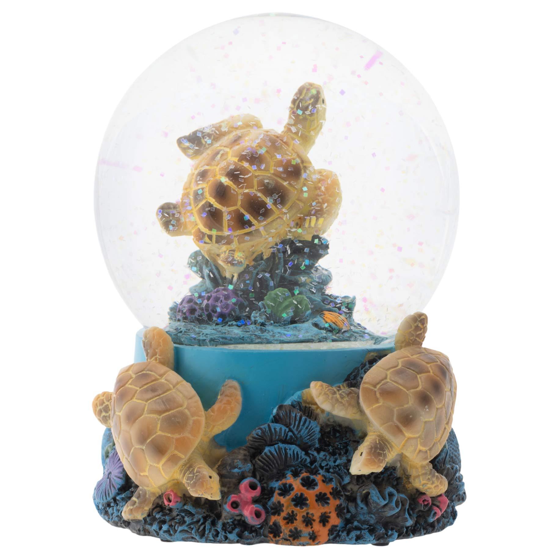 Image of Delightful Musical Sea Turtle Water Globe