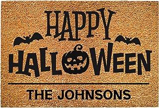 Halloween Decorations, Halloween Door Mat Floor Door Mat Halloween Doormat Outdoor and Indoor Non-Slip Mat Letter Door Mat...