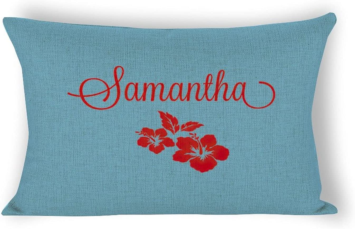 By Unbranded Personalized Hibiscus Same day shipping Flower Pil White Satin 5 ☆ popular Pillow
