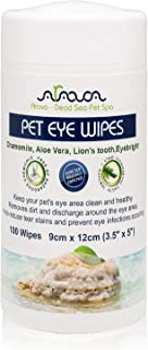 Arava Pet Eye Wipes – for Dogs Cats Puppies & Kittens – 100 Count –..