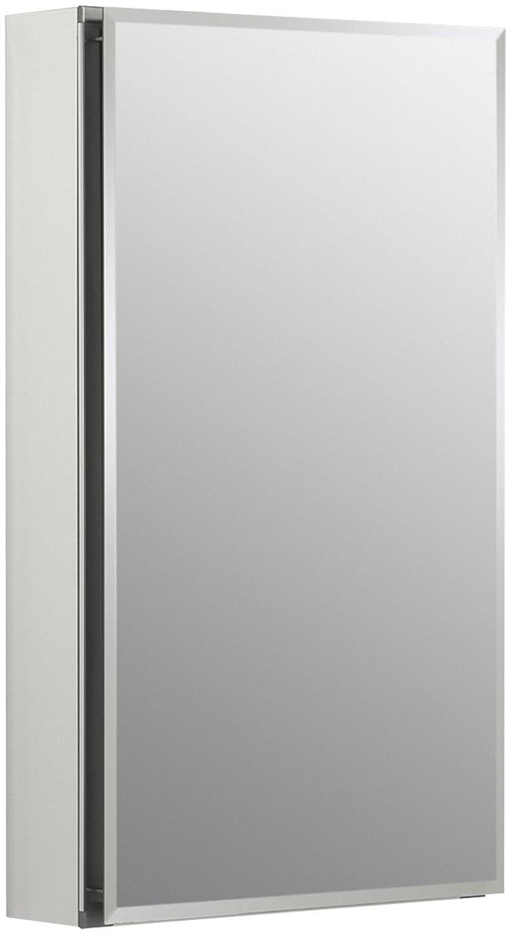 KOHLER K-CB-CLC1526FS Frameless 15 inch x 26 inch Aluminum Bathroom Medicine Cabinet; ; Recess or Surface Mount