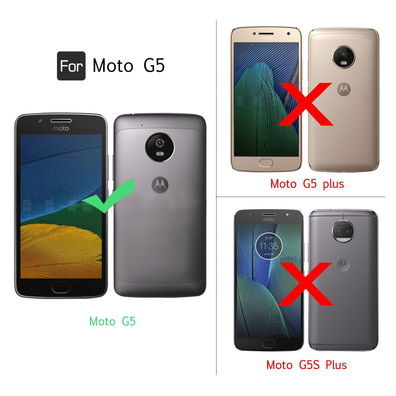 LeYi Funda Motorola Moto G5 Silicona Purpurina Carcasa con HD ...