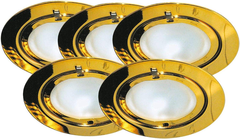 984.79 Paulmann Mbelleuchten Mbel EBL Set Klipp Klapp 5x20W 105VA 230 12V G4 72mm Gold Stahlblech Glas