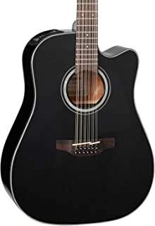 Takamine G Series GD30CE-12 Dreadnought 12-String Acoustic-Electric Guitar Black