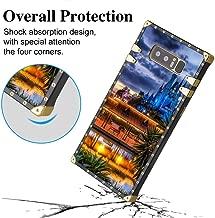 DISNEY COLLECTION Square Case Compatible for Samsung Galaxy Note 8 (2017) [6.3 Version] Cinderella Castle Night Walt Disney World Wdw