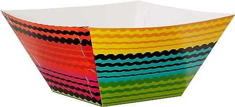 Cinco Multicolored Paper Serving Bowls