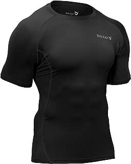 Men's Short Sleeve Compression Shirts Gym Base Layer Compression Tops
