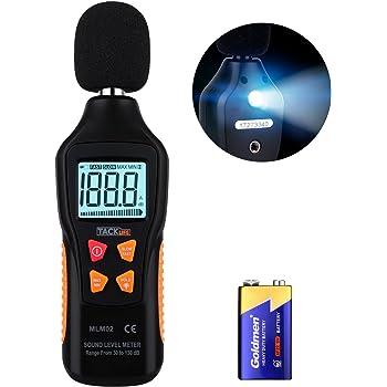 URCERI Medidor de Sonido, Decibelímetro, 35-135 dB, Datos Máximos ...