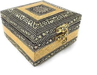 SIXFIRE® Handicraft Jewelry Box, Wedding Box, wood Jewelry Box, Gold, Jewelry Box for Women, Modern design,