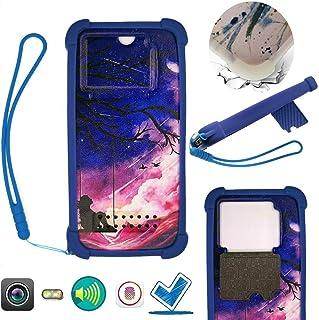 Case For Tecno Spark 4 Lite Case Silicone border + PC hard backplane Stand Cover DQQ