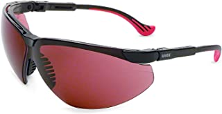Uvex by Honeywell Genesis XC Safety Glasses, Black Frame with SCT-Gray Lens & HydroShield Anti-Fog Coating (S3303HS)