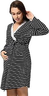 LMRYJQ-Bata de Maternidad Bata de Parto Camisones Hospital Bata de Lactancia Materna