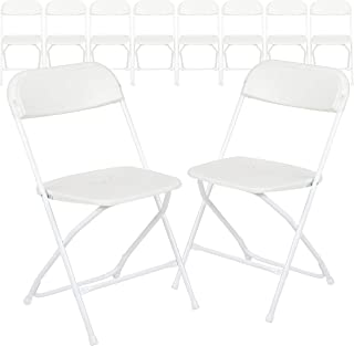 Flash Furniture Folding Chair, Pack of 10, White, 45.72 x 44.45 x 80.01 cm