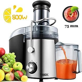 comprar comparacion Licuadoras para Verduras y Frutas 800W Licuadoras para Zumos Centrífugo, 75mm Boca Ancha y Multi-Velocidades, Base Antides...