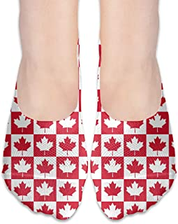 Unisex Canada Maple Leaf Cute Funny Low Cut Socks Casual Cotton Work Sport Dancing Outdoor Socks