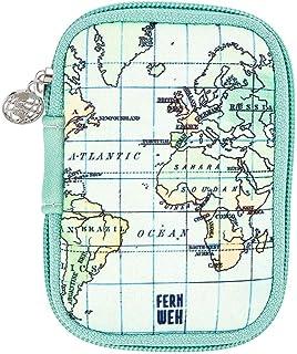 moses. Fernweh - Bolsa para guardar cables, auriculares y adaptador de carga, pequeño estuche de viaje de neopreno, organi...