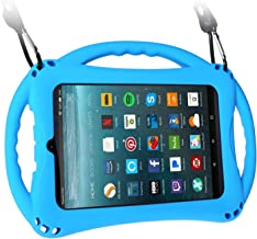 TopEsct Kid-Proof Case for Amazon Fire 7 Tablet (Compatible with Both 7th and 9th Generation Tablets, 2017&2019 Releases) Handle Stand Cover Case for Kids (Blue)