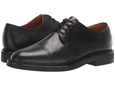 Polo Ralph Lauren Asher Cap Toe (Black Calf Leather) Men