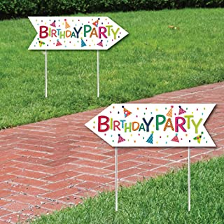 birthday party sign