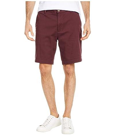 Nautica Flat Front Shorts (Wine) Men
