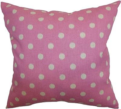 Amazon.com: the pillow collection Nancy Dots fucsia blanco ...