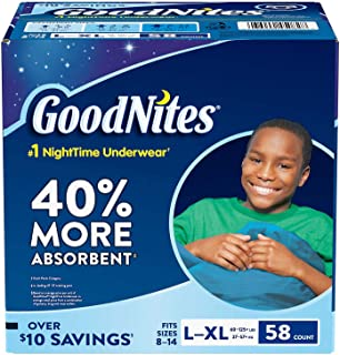 GoodNites Bedtime Bedwetting Underwear for Boys, (L-XL, 58 Ct.)