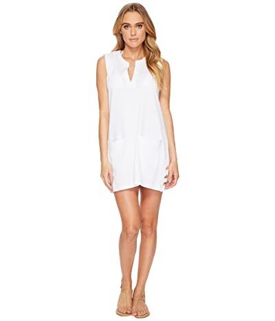 LAUREN Ralph Lauren Button Tunic Cover-Up (White) Women
