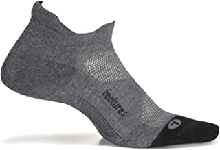 Unisex Elite Max Cushion No Show Tab Sock (Large, Gray)