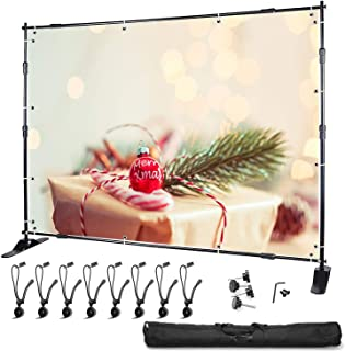 """YISITONG Background Stand Backdrop Banner Stand with Heavy Duty Base for Photography Backdrop and Trade Show Display, 2 x 2m/79"""" x 79"""" Djustable Frame (W x H), with Carrying Case"""