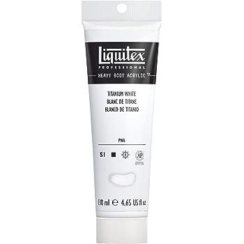 Liquitex Professional Heavy Body Acrylic Paint, 4.65-oz Tube, Titanium White