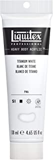 Liquitex Bs1047-432 Professional Heavy Body Acrylic Paint, 4.65 oz, Titanium White