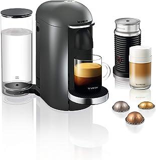 Krups Nespresso Vertuo Plus - Cafetera de cápsulas Depósito de agua de 1,1 l. titanio