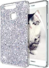 OKZone Case Compatible with Huawei P9 [with HD Screen Protector], Bling Glitter Sparkle Design Slim Fit Soft Gel TPU Silic...