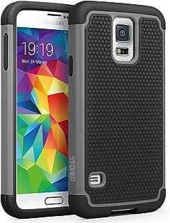 جراب Galaxy S5، SYONER [مقاوم للصدمات] جراب واقٍ واقٍ مزدوج الطبقات من المطاط الهجين لهاتف Samsung Galaxy S5 S V I9600 [رم...