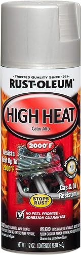 Rust-Oleum 248904 Automotive High Heat Spray Paint, 12 Oz, Flat Aluminum