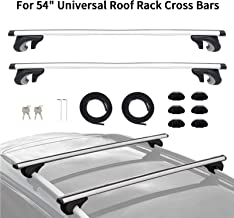 "MONOKING 54"" Adjustable Universal Roof Rack Crossbars Aluminum Locking Safety Cargo Carrier Kayak Cargo Rooftop Luggage Cr..."