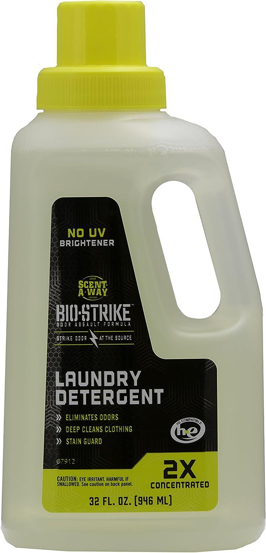 Hunters Specialties Scent-A-Way 07912-1 Bio-Strike Laundry Detergent, 32 oz, Grey