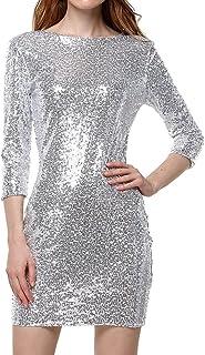 fa13d51022 Amazon.it: abito argento