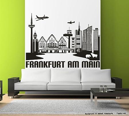 Wandtattoo Wandaufkleber Frankfurt Am Main Skyline Stadt Kupfer Gr1 Amazon De Kuche Haushalt